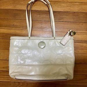 COACH cream color shoulder bag